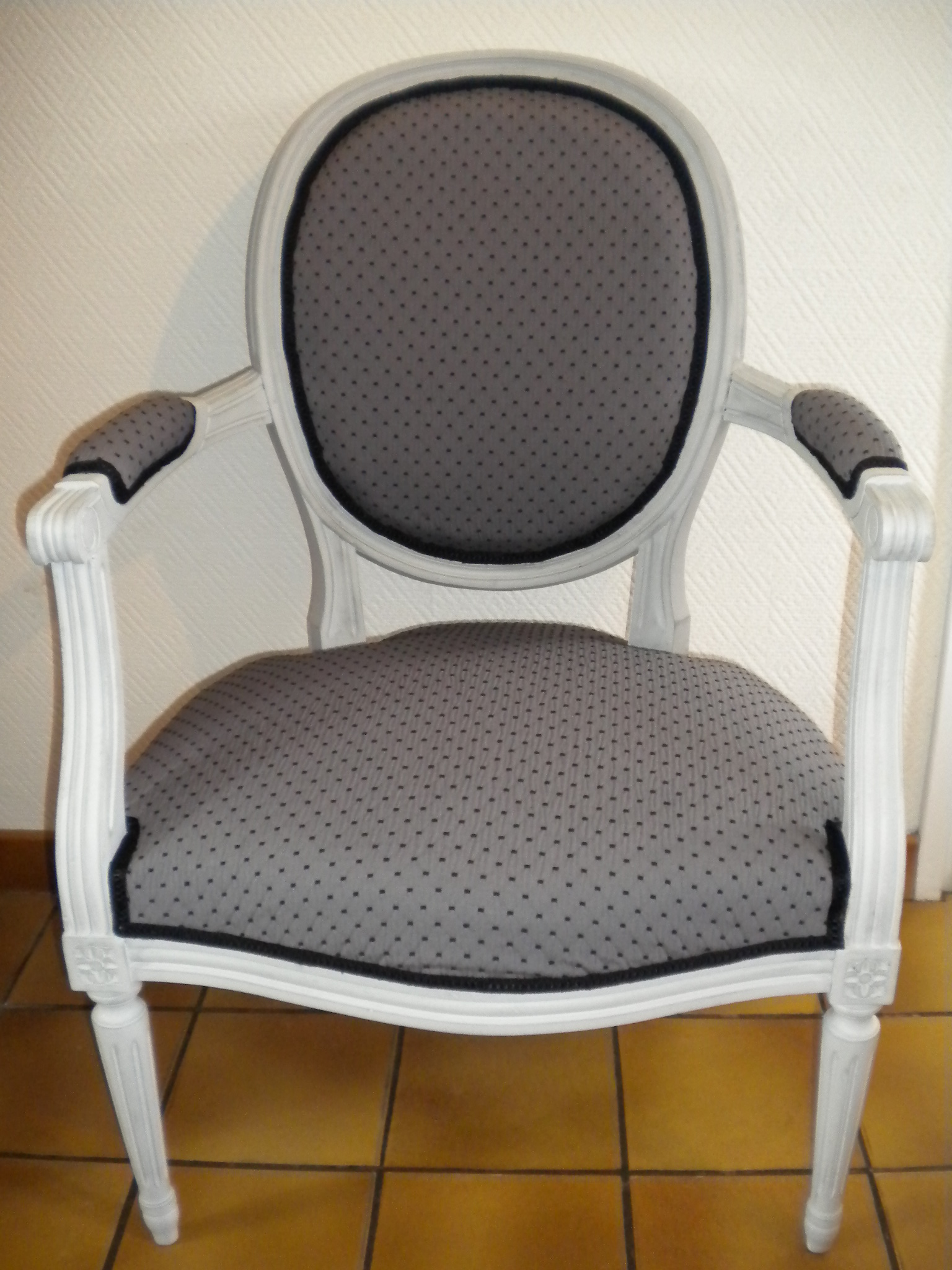 Fauteuil Chaise Tapisserie Patine Relooking Oise Picardie